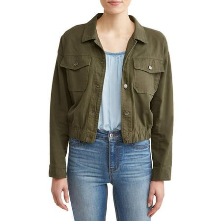 Women's Cropped Utility - Cropped Jacquard Jacket