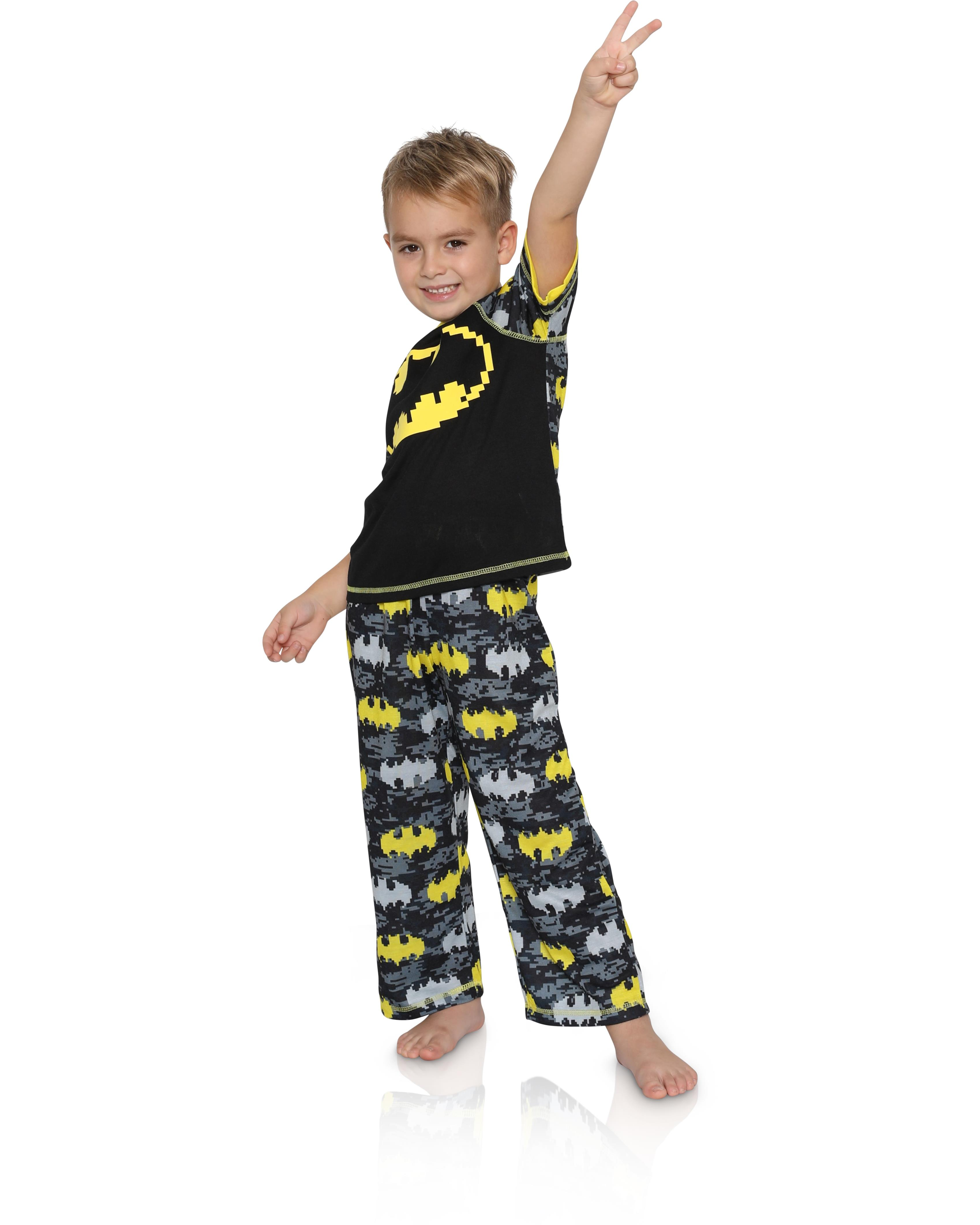 Official DC Comics Batman Boys Children/'s Kids Shorts Pyjamas Pajamas 5 6 8 10