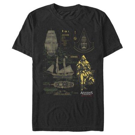 Assassin's Creed Men's Black Flag Jackdaw T-Shirt