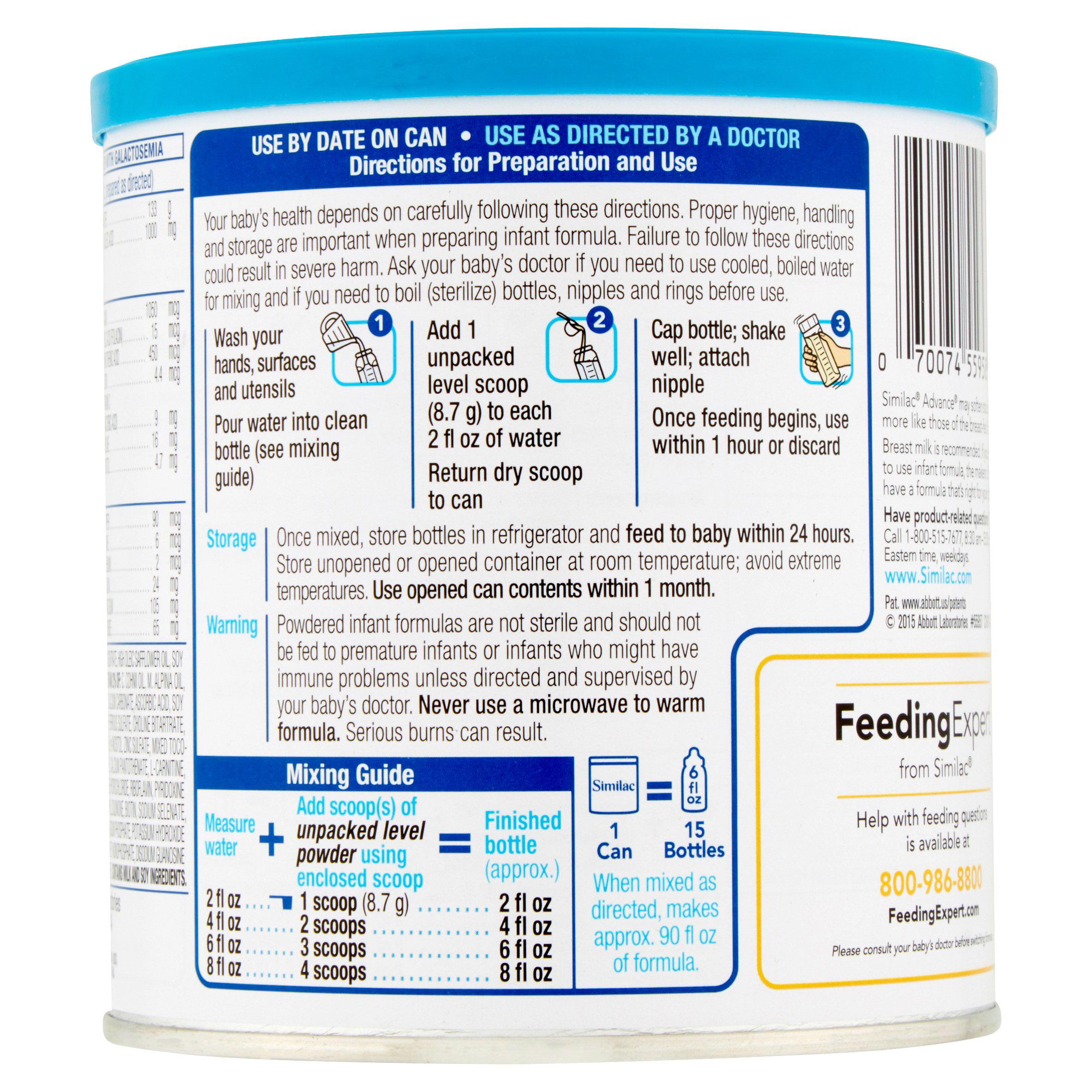 Similac advance infant formula with iron baby formula powder