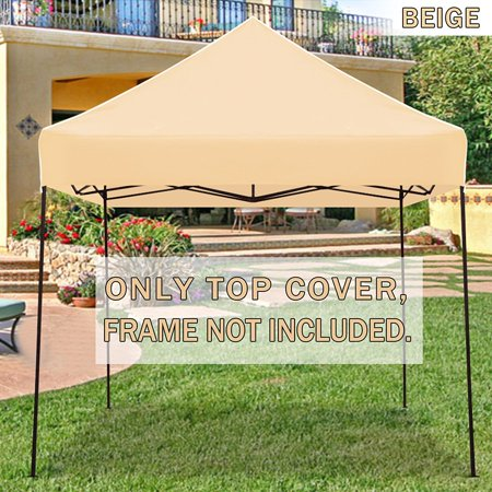 sale retailer 34a78 53146 STRONG CAMEL Ez pop Up Canopy Replacement Top instant 10'X10' gazebo EZ  canopy Cover patio pavilion sunshade plyester- Beige Color