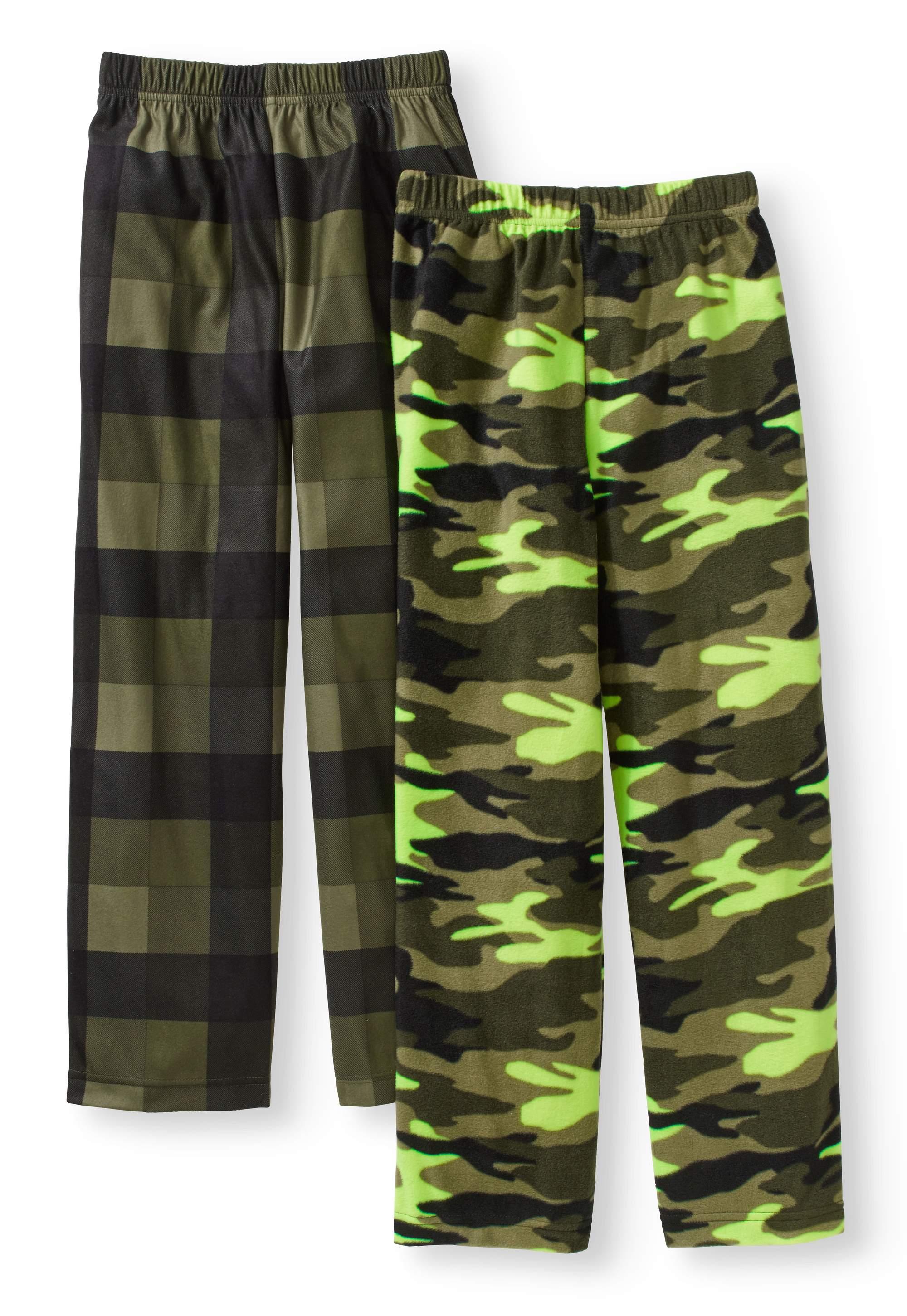 Boys' Micro Fleece and Brushed Micro Jersey Sleep Pant, 2 pack