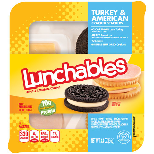 Lunchables Turkey & American Cracker Stackers, 3.4 oz