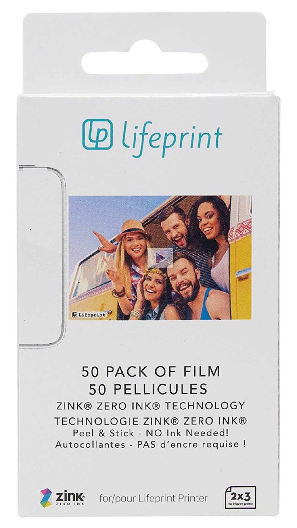 Lifeprint Photo Paper 2x3 - Sticky Back 50 Pack