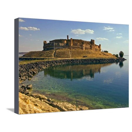 Qala'at Ja'abar Citadel Jutting Out into Lake Al-Assad, Central Syria Stretched Canvas Print Wall Art By Patrick (Citadel Out)