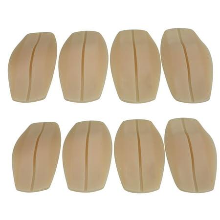 Bra Strap Cushions - 4 Pack Flirtzy Soft Silicone Bra Shoulder Strap Cushions Bra Strap Holder Non-slip Shoulder Pads Ease Shoulder Discomfort -Nude Color