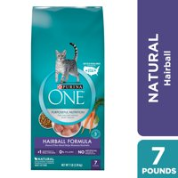 Purina ONE Hairball Natural Dry Cat Food Hairball Formula 7 lb. Bag