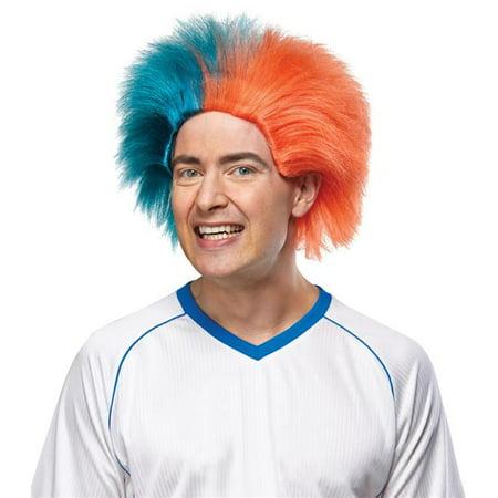 Morris Costumes MR179578 Sports Fun Teal Orange Wig Costume - Teal Wig