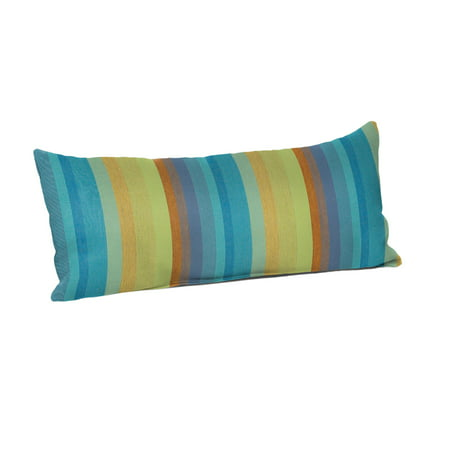 "Sunbrella 22"" x 9"" Throw Pillow - Astoria Lagoon"