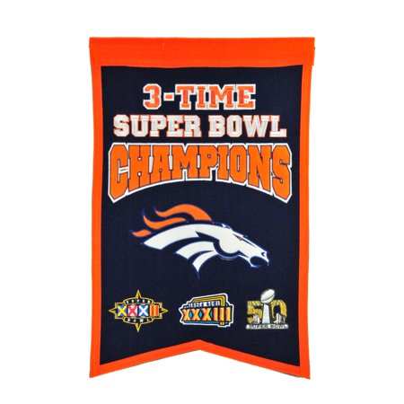 Winning Streak - NFL Champions Super Bowl Banner, Denver - Denver Nuggets Banner