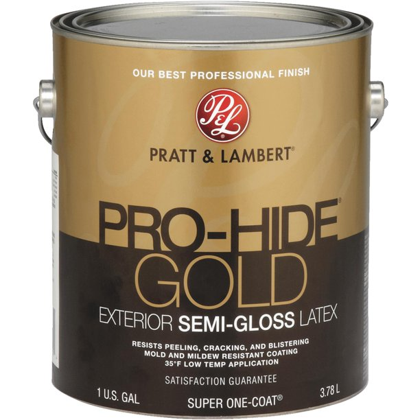 pratt & lambert pro-hide gold latex semi-gloss exterior house paint -  Walmart.com - Walmart.com