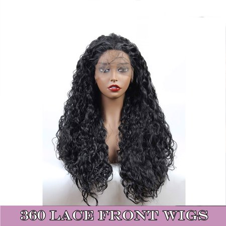S-noilite 360 Lace Frontal Wig 130% Density Pre-Plucked Hairline 360 Lace Front Brazilian Remy Human Hair Wig Curly Hair Wig for Women -