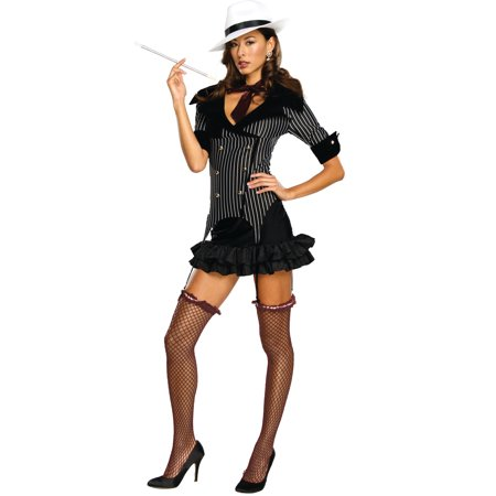 Women's Adult 1920s Gangster Doll Costume