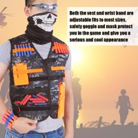 Hilitand Thickened Kids Toy Gun Clip Vest Kit Vest+Clips+Soft Darts+Goggle+Mask,Toy Vest Kit, Toy Gun Vest