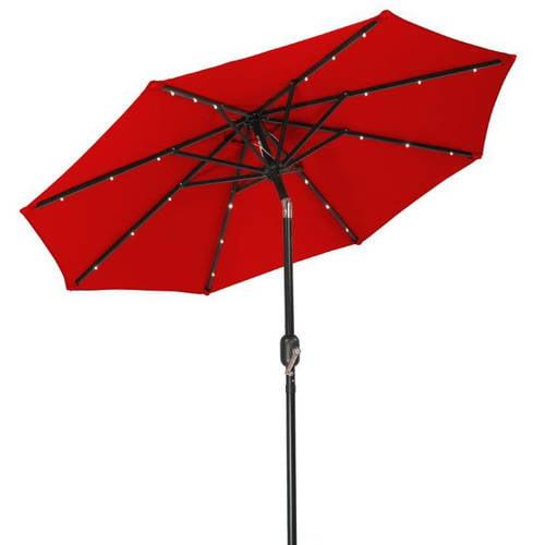 Trademark Innovations 7' Solar-Powered LED Patio Umbrella by Trademark Innovations
