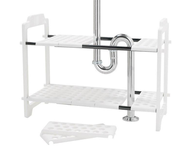 Awesome Madesmart Under Sink Storage Shelf Plastic 17 25 X 11 X 2 75 White Download Free Architecture Designs Itiscsunscenecom