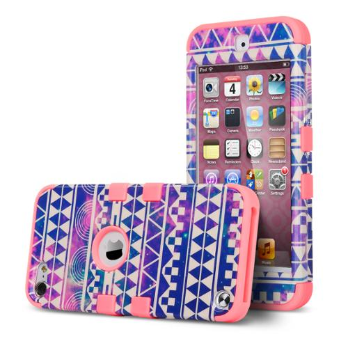 iPod Touch 6 Case,iPod Touch 5 Case ,ULAK [Colorful Series] Anti-slip iPod Touch Case Hard PC Soft Silicone Hybrid Dust Scratch Shock Resistance Cover for iPod touch 5 6th Gen Pattern