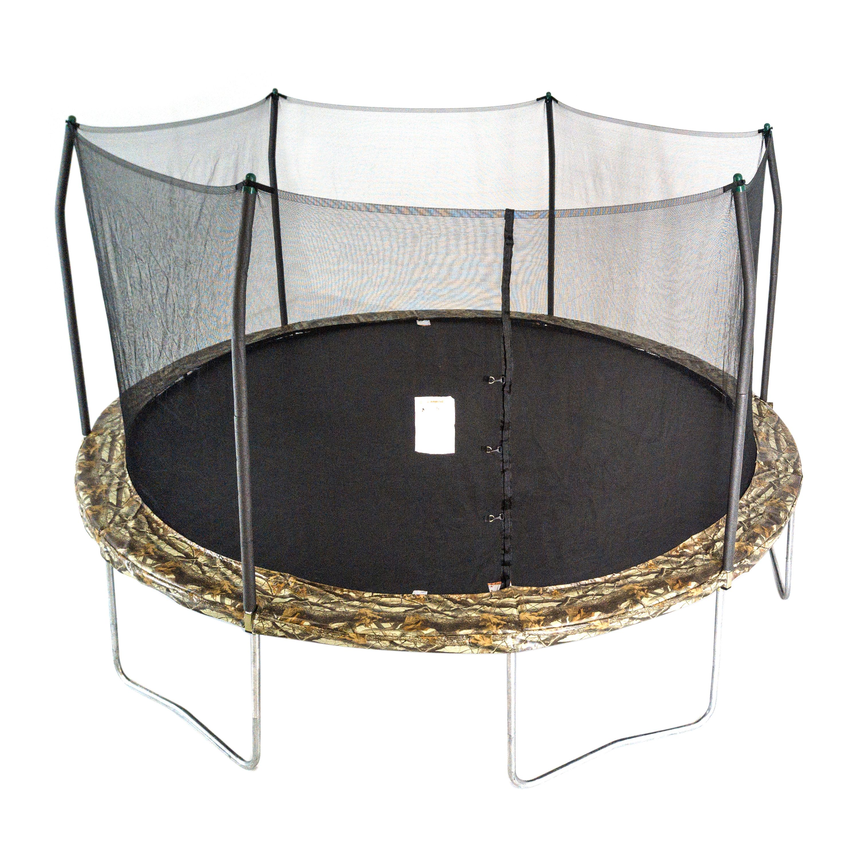 Skywalker Trampolines 15-Foot Trampoline, with Safety Enclosure, Camo