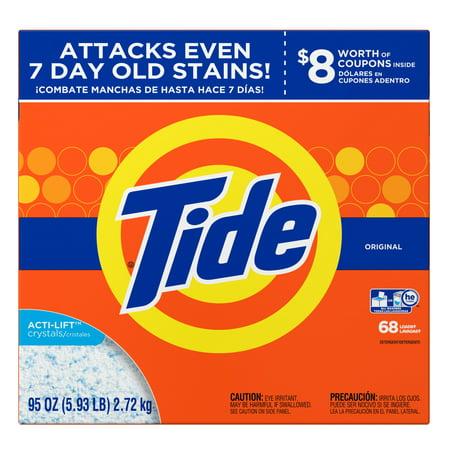 Tide Original He Turbo Powder Laundry Detergent  68 Loads  95 Oz