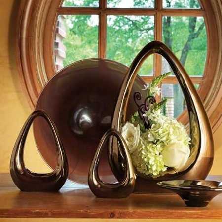 Global Views Bronze Carry About Ceramic Vase Accents Home