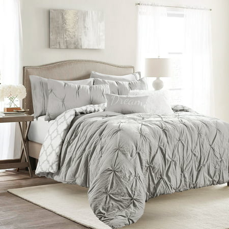 Ravello Pintuck Caroline Geo Reversible Comforter Set, Multiple Colors