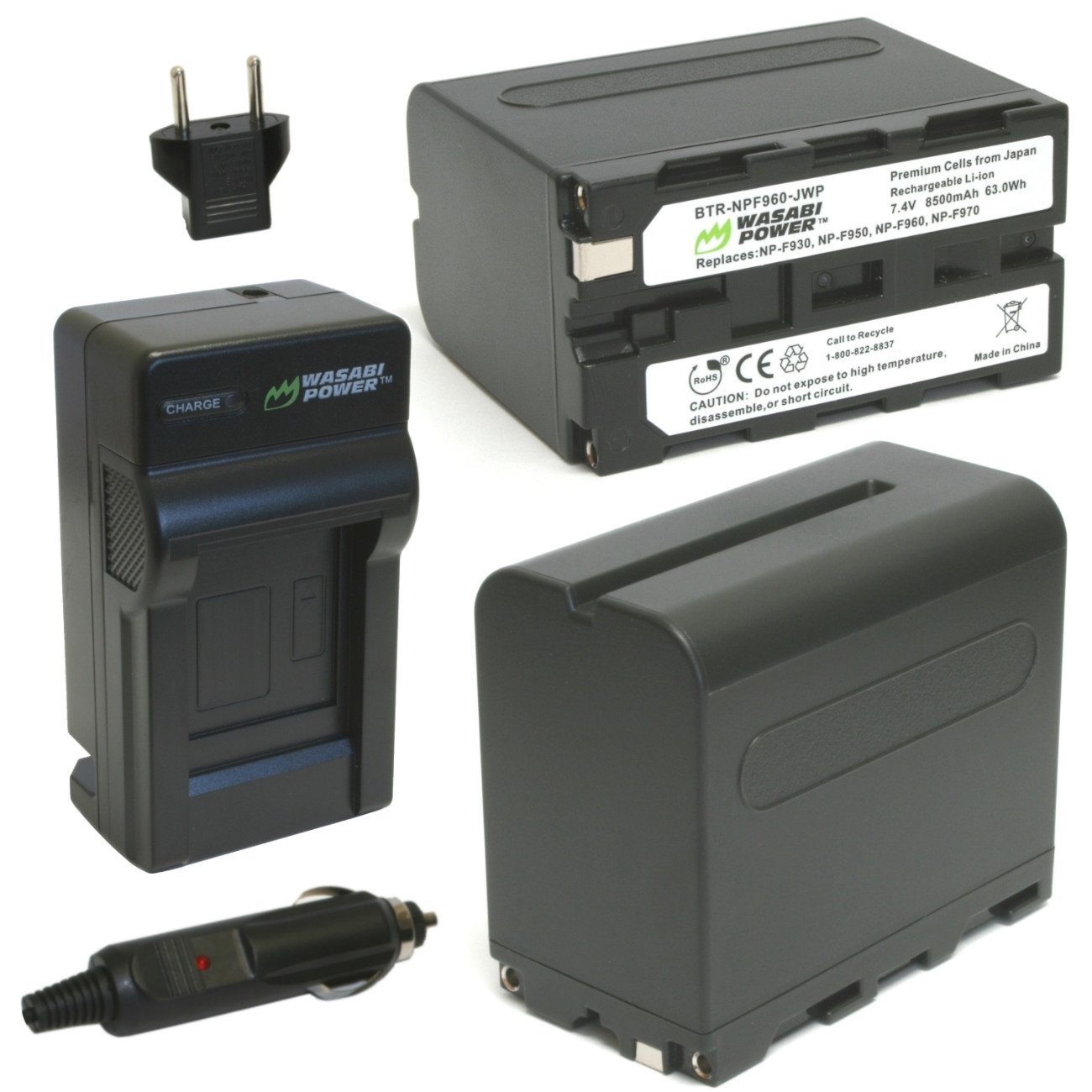 Wasabi Power Battery (2-Pack) and Charger for Sony NP-F97...