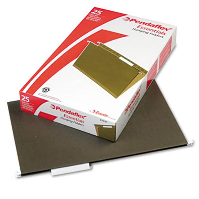 Pendaflex 81622 Hanging File Folders- 1/5 Tab- Legal- Standard Green- 25/Box