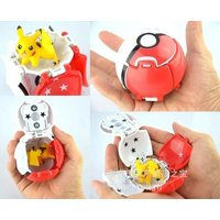 Throw Automatically Bounce Pokeball With Pokemon Pikachu Anime Action Figures Creative Children´s Toys