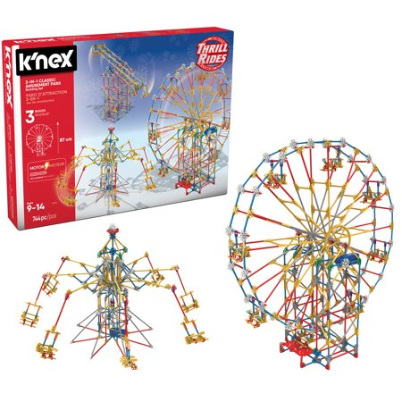 K'NEX Thrill Rides - 3-in-1 Classic Amusement Park Building Set - 744 Pieces - Ages 9 Engineering Education