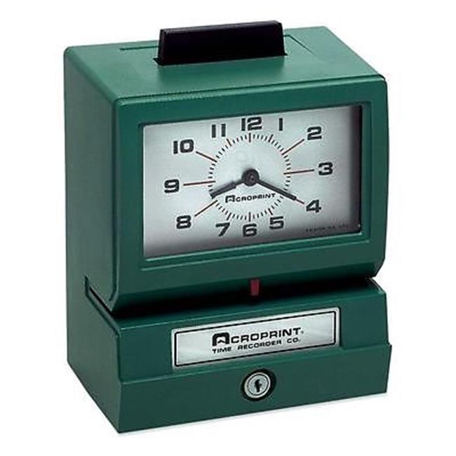 Acroprint Time Recorder 011070400 Model 125 Analog Manual Print Time Clock with Date-0-12 Hours-Minutes by Acroprint Time Recorder