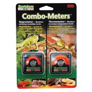 Penn Plax The Reptology Combo-Meters Hygrometer & Thermometer Pack