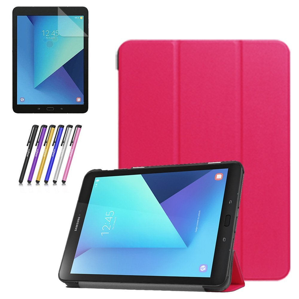 Mignova Samsung Galaxy Tab S3 9.7 case,Ultra-thin lightweight Smart Cover Case for Samsung Galaxy Tab S3 9.7-Inch Tablet w/ S Pen SM-T820 / T825 +Screen Protector Film and Stylus Pen (Black)