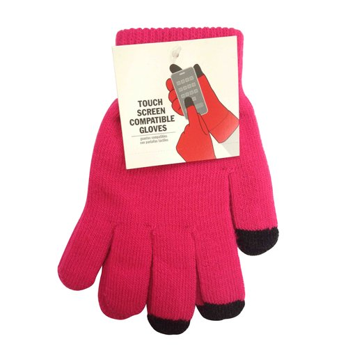 Pink Solid Tech Glove
