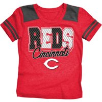 MLB Cincinnati Reds Girls Short Sleeve Team Color Graphic Tee