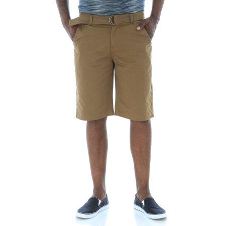 - WT02 Men's Belted Basic Twill Chino Shorts