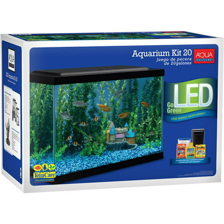 Aqua culture 20 gallon aquarium starter kit with led for 20 gallon fish tank size