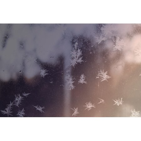 Framed Art For Your Wall Winter Frozen Christmas Snow Snowflake Freeze 10x13 Frame