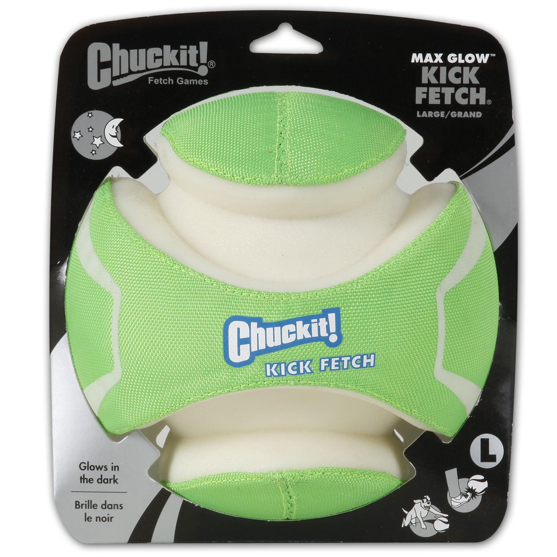 Chuckit! Kick Fetch Max Glow Dog ball, Large