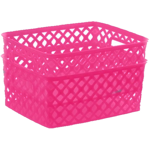 Mainstays Small Decorative Basket - 2pk - Pink