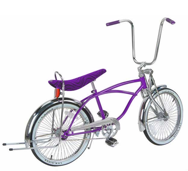 "20"" Standard Springer Fork Lowrider Bike, Purple"
