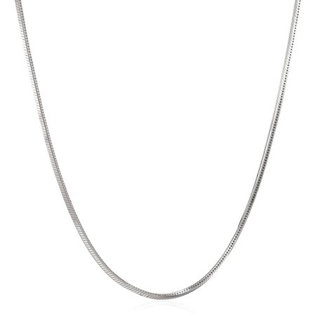 Italian Sterling Silver Square Snake Chain Necklace, 20