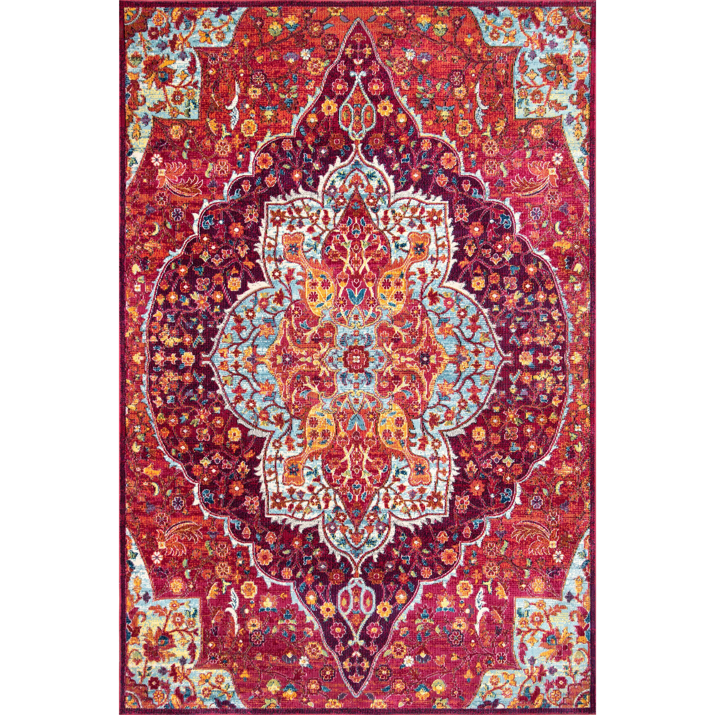 Nuloom Polypropylene 9' X 12' Rectangle Area Rugs In Pink 200RZDR08A-9012