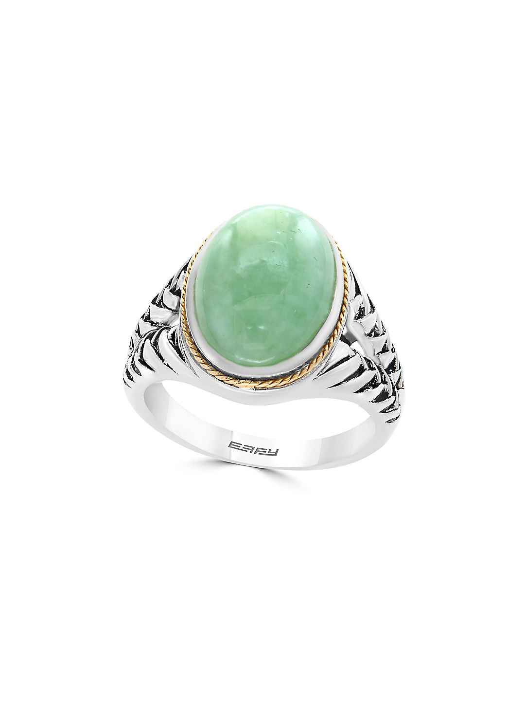 Jade and Sterling Silver Ring