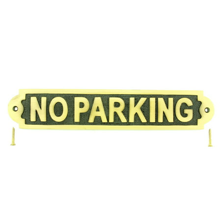 Solid Brass Plate NO PARKING Sign Polished Brass Plaques