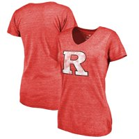 Rutgers Scarlet Knights Fanatics Branded Women's Classic Primary Tri-Blend V-Neck T-Shirt - Scarlet