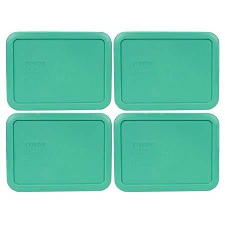 Green Glass Dish - Pyrex 7210-PC Rectangle 3 Cup Storage Lid for Glass Dish (4, Light Green)