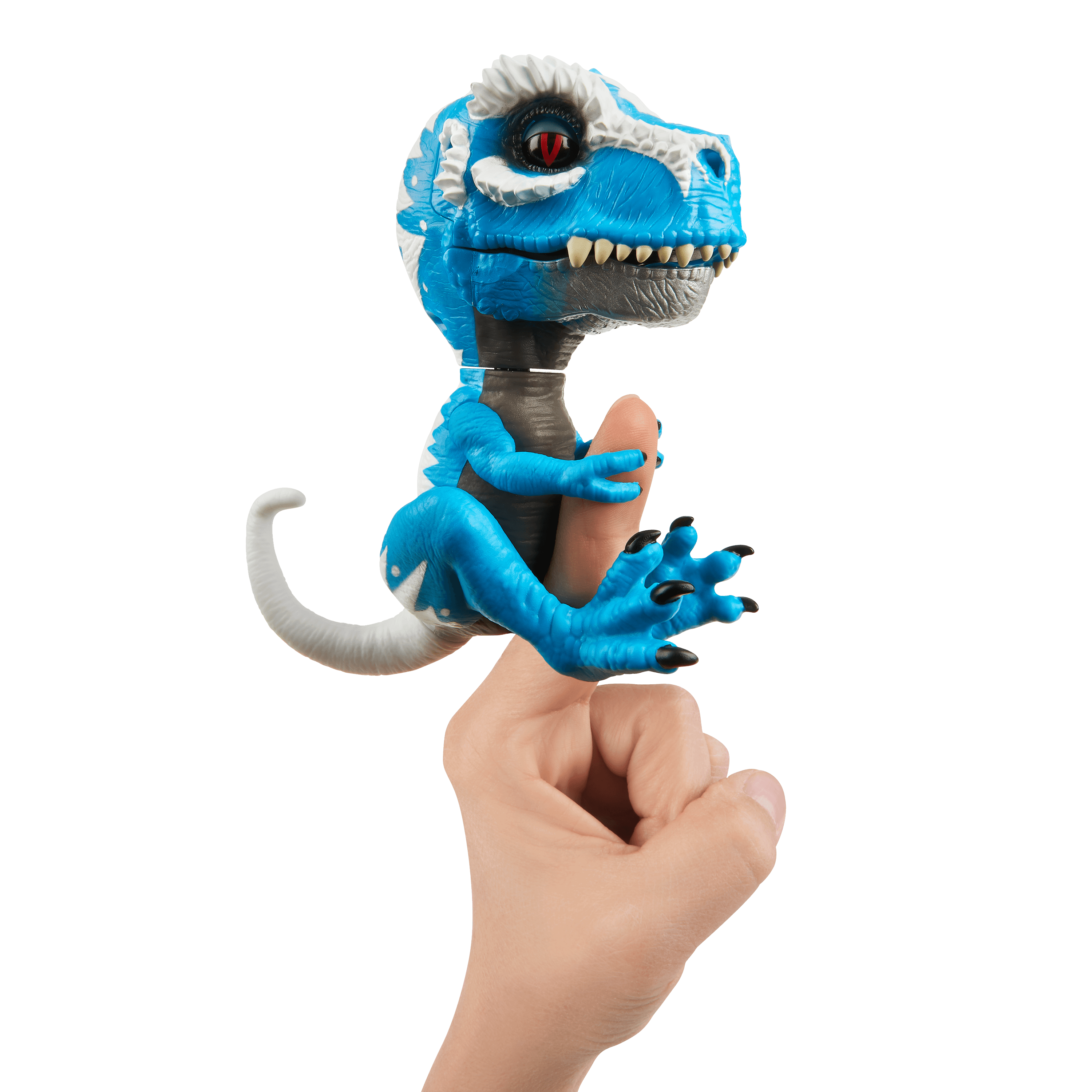 Untamed T-Rex by Fingerlings - Ironjaw (Blue) - Interactive Collectible Dinosaur -...