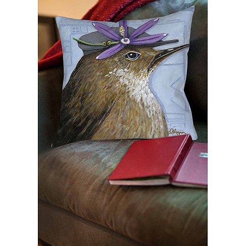 Thumbprintz You Silly Bird Walter Indoor Pillow