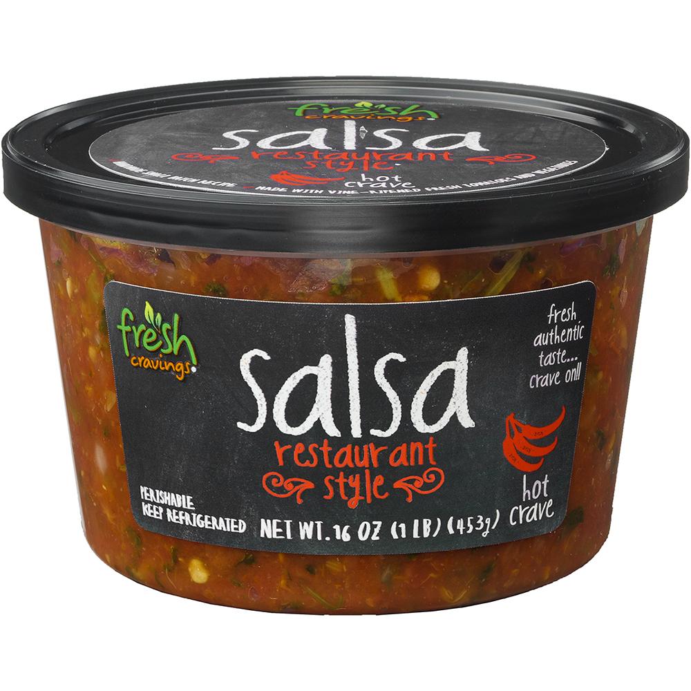 Fresh Cravings Hot Restaurant Style Crave Salsa, 16 oz
