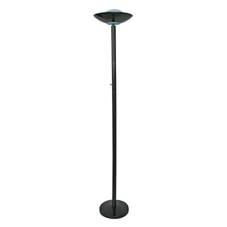 ORE International 190W Halogen Torchiere Floor Lamp, Black